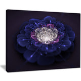 blue white fractal flowers floral digital art canvas print PT7910