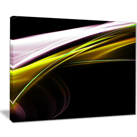 fractal lines golden white abstract digital art canvas print PT7917