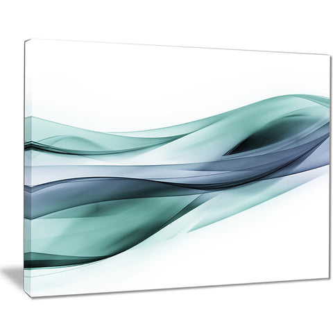 fractal lines grey blue abstract digital art canvas print PT7919