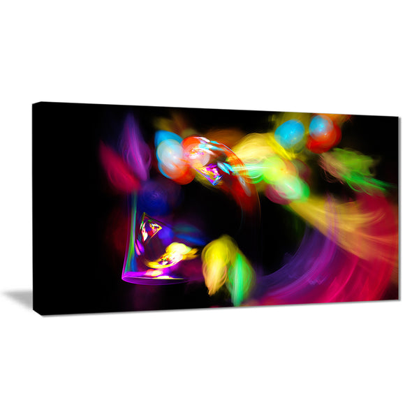 colorful smoke spiral abstract digital art canvas print PT7936