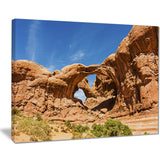 double arch in arches national park landscape photo canvas print PT7940