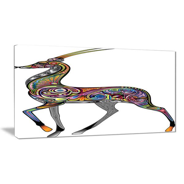 colorful antelope animal digital art canvas print PT7953