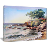 cote d azur france landscape painting canvas art print PT7961