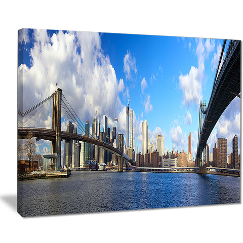 bright manhattan day panorama cityscape photo canvas print PT7998
