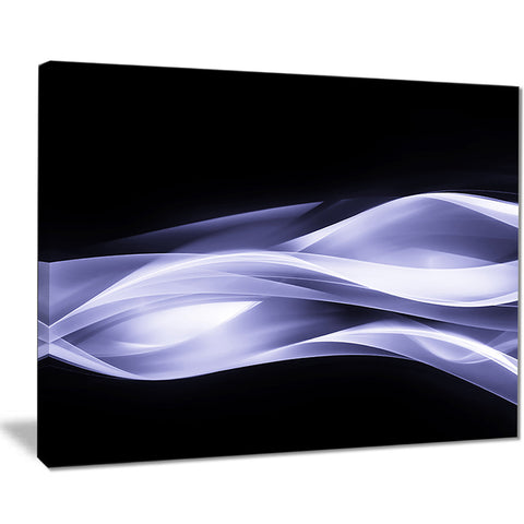 fractal lines purple in black abstract digital art canvas print PT8008