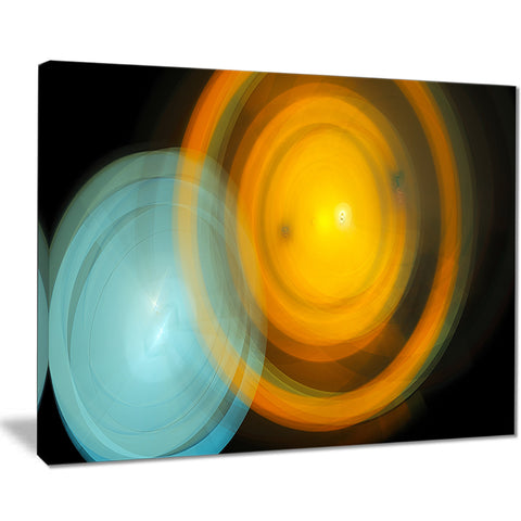 orange fractal desktop wallpaper abstract digital art canvas print PT8011