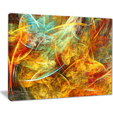 yellow swirling clouds abstract digital art canvas print PT8035