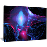 blue bright candle abstract digital art canvas print PT8037