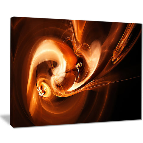 fractal smoke texture brown abstract digital art canvas print PT8058