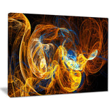 fractal smoke texture orange abstract digital art canvas print PT8059