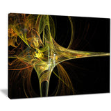 large fractal artwork yellow abstract digital art canvas print PT8061