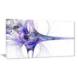 large fractal artwork blue abstract digital art canvas print PT8062