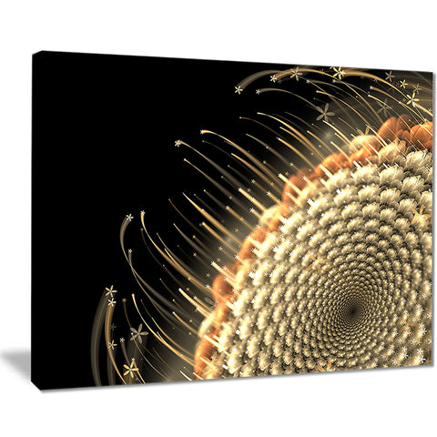 brown fractal flower pattern floral digital art canvas print PT8063