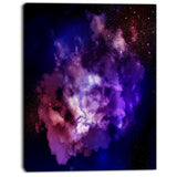 fractal smoke texture purple abstract digital art canvas print PT8066