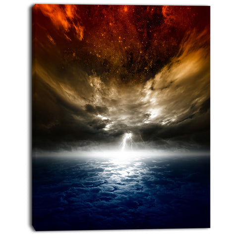 dramatic nature modern spacescape canvas print PT8069