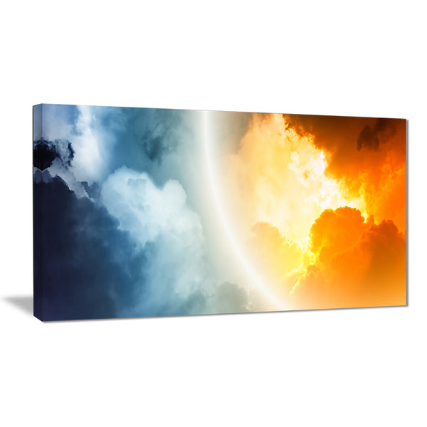 space sunset modern spacescape canvas print PT8070