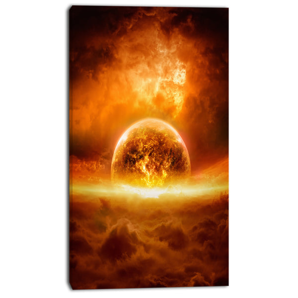 exploding planet modern space digital canvas print PT8077