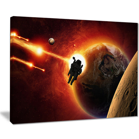 mission to mars modern space digital canvas print PT8078