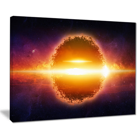exploding planet in space modern space digital canvas print PT8080