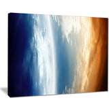 abstract planet in space modern space digital canvas print PT8081