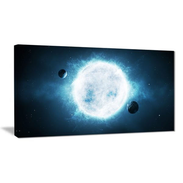 large star modern spacescape canvas print PT8085