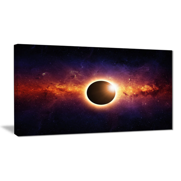 full eclipse view modern spacescape canvas print PT8090