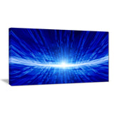 glowing blue lines abstract digital art canvas print PT8098