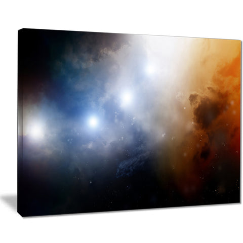 glowing sky abstract digital spacescape canvas print PT8104