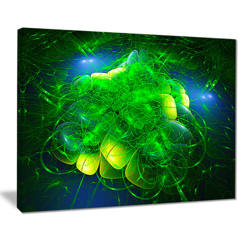 alien mystical flower green floral digital art canvas print PT8108