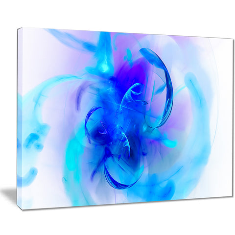 fractal blue 3d wallpaper art floral digital art canvas print PT8111