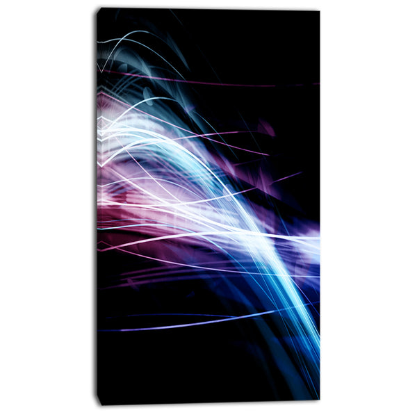 purple blue lines in black abstract digital art canvas print PT8115
