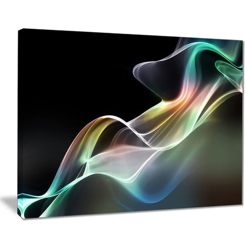 abstract smoke reflection abstract digital art canvas print PT8126