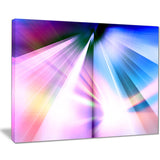 rays of speed blue abstract digital art canvas print PT8131