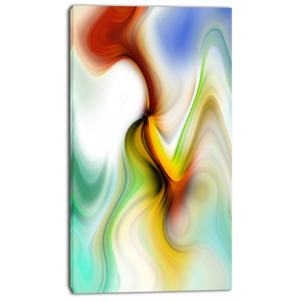 rays of speed curved abstract digital art canvas print PT8132