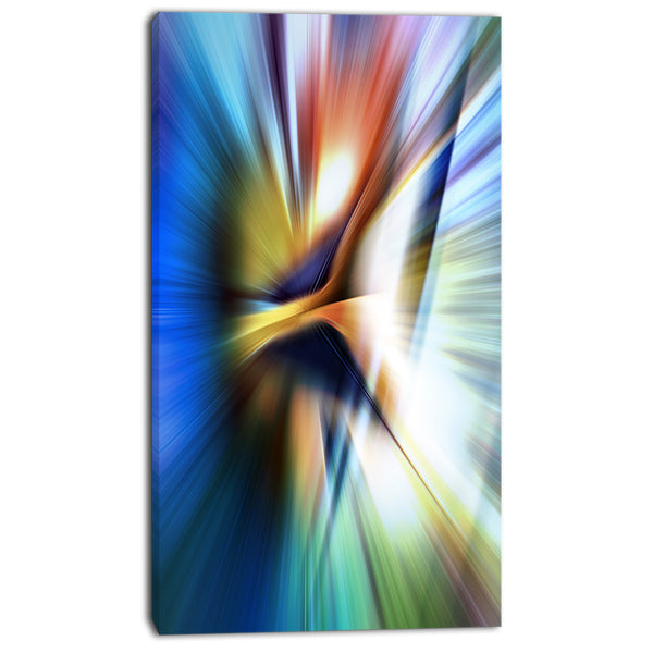 rays of speed center abstract digital art canvas print PT8135