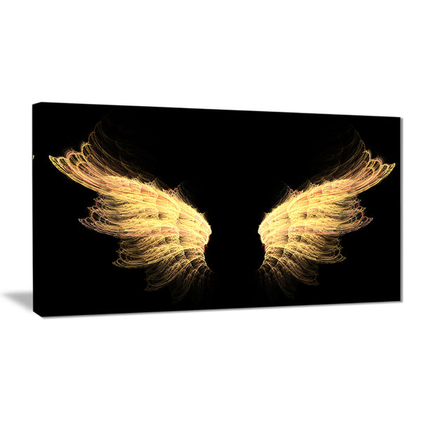 hell gold wings abstract digital art canvas print PT8139