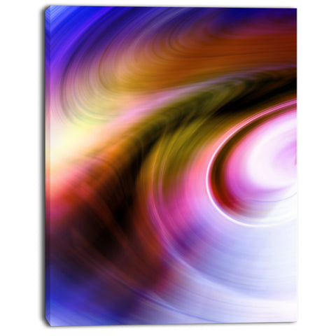 curved texture of colors abstract digital canvas print PT8145