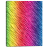 multi color neon glowing lines abstract digital canvas print PT8147