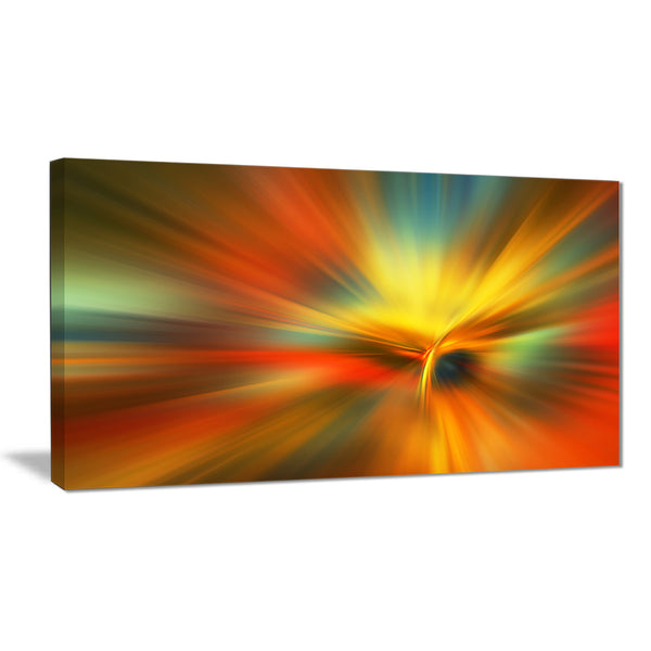 yellow focus color abstract digital art canvas print PT8150