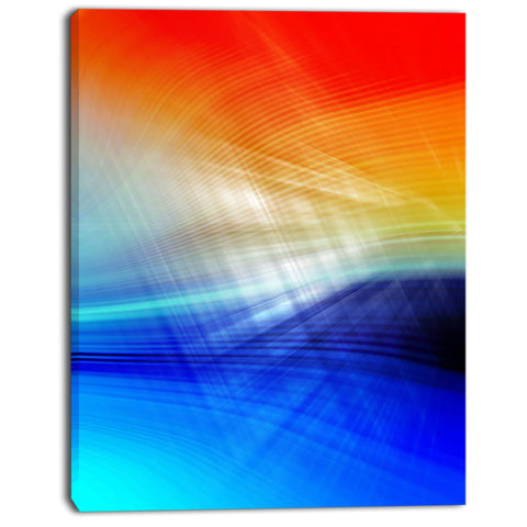 3d mix of red blue yellow abstract digital art canvas print PT8153