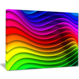 rainbow downward wave pattern modern digital canvas print PT8157