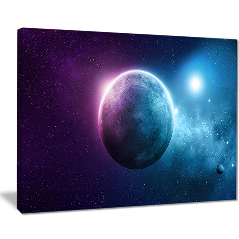 deep space planet modern spacescape canvas art print PT8158