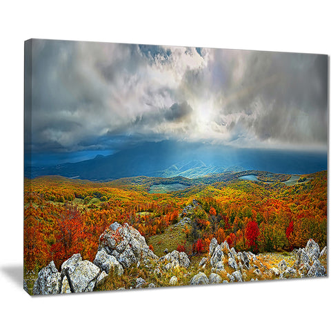 autumn in crimean mountains landscape photo canvas print PT8162