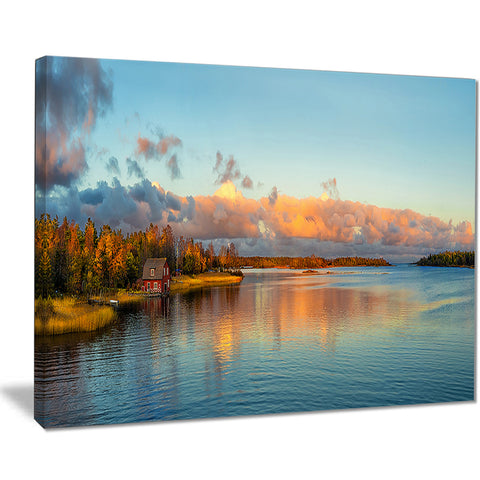 autumn sunset panorama landscape photo canvas print PT8166