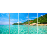 sky mountain and water landscape photo canvas print PT8172