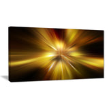 explosion of golden hue abstract digital art canvas print PT8181