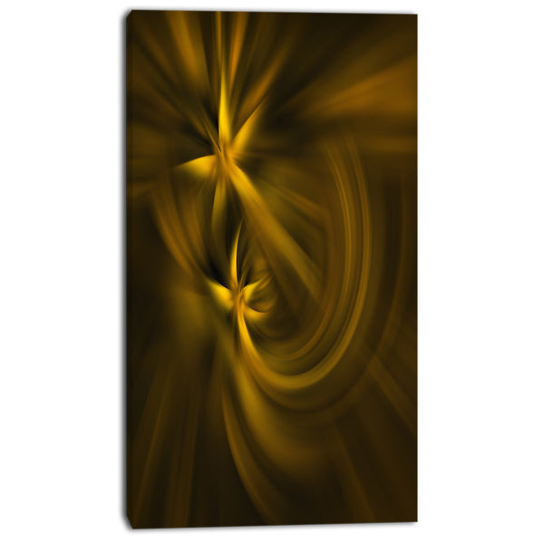 play of golden stars abstract digital art canvas print PT8183