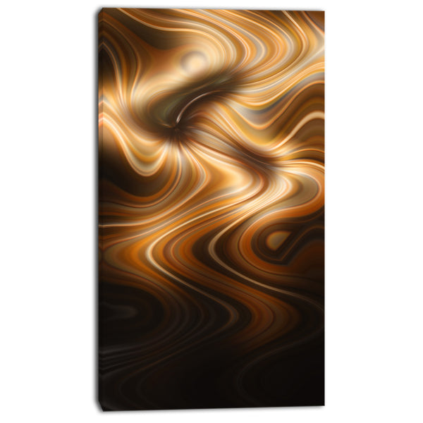 brown curved waves texture abstract digital canvas print PT8186