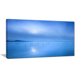 blue water surface in morning seascape photo canvas print PT8202