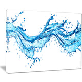 blue water splashes abstract digital art canvas print PT8206